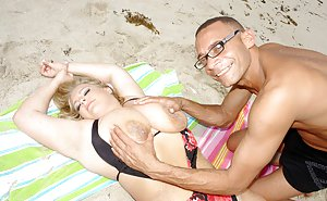 Mature on Beach Photos